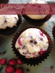 Gluten-Free Cranberry Chocolate Muffins