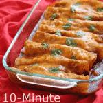 10-Minute Gluten-Free Enchiladas