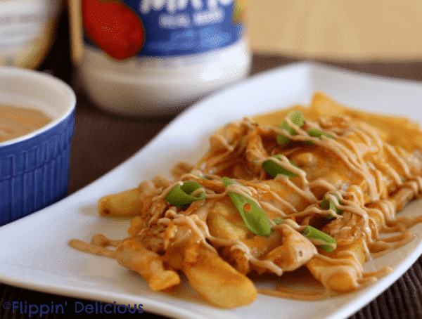 Loaded Barbecue Chicken Cheesy Fries with Creamy Barbecue Aioli #RollIntoSavings #shop