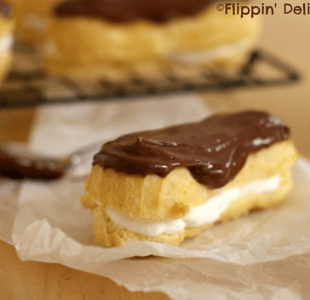 Eclairs and cream puffs are made simple in this easy recipe, but still oh so elegant! #glutenfree
