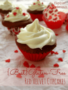 The BEST Gluten Free Red Velvet Cupcakes