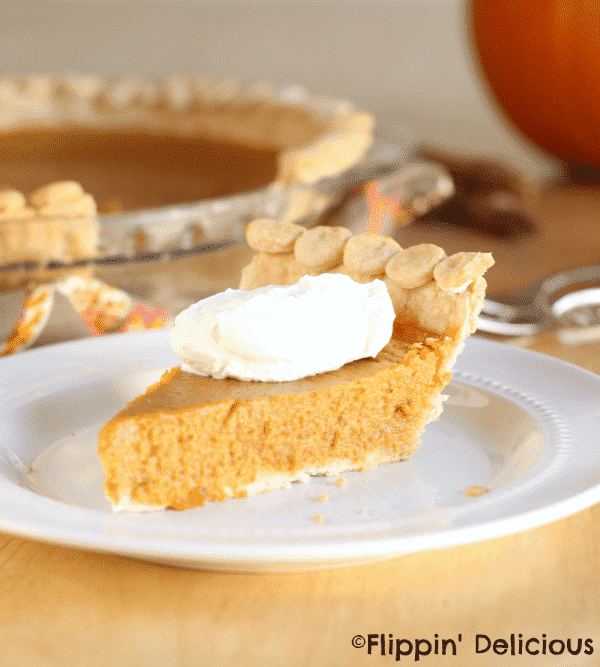 Gluten free honey pumpkin pie has all the great pumpkin flavor that you crave but without any refined sugars. Lightly sweetened and perfectly slice-able.