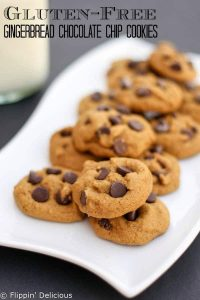 Gluten Free Gingerbread Chocolate Chip Cookies