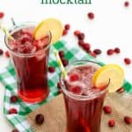 Refreshing Cranberry Lemon Mocktail