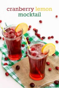 Enjoy this refreshing Refreshing Cranberry Lemon Mocktail, it takes only minutes to mix up this recipe and then you can just relax and enjoy the holidays.