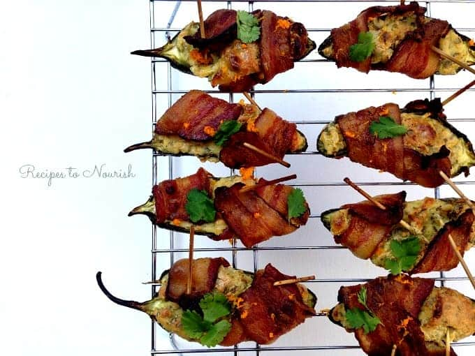 Bacon-Wrapped-Cilantro-Cream-Cheese-Stuffed-Jalapeños-Recipes-to-Nourish7