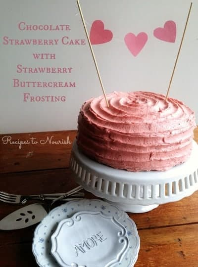 Chocolate-Strawberry-Cake-with-Strawberry-Buttercream-Frosting-Recipes-to-Nourish