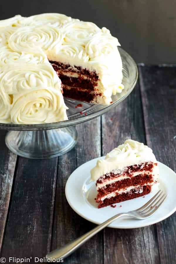 gluten free red velvet layer cake with cream cheese frosting easy