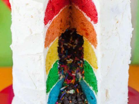 Gluten-Free Rainbow Layer Cake