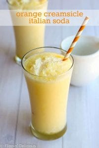Orange Creamsicle Italian Soda