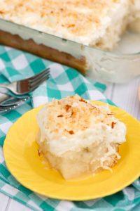 Gluten Free Coconut Poke Cake