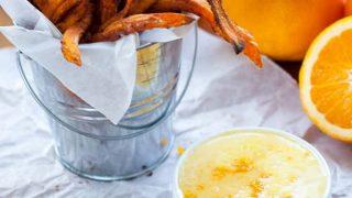 Baked Sweet Potato Fries with Orange Zest Icing