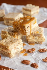 Gluten Free Blondie Praline Pumpkin Ice Cream Sandwich