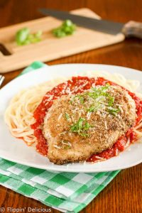 Gluten free chicken parmesan has all of your favorite classic Italian flavors in a gluten-free meal the whole family will love. An easy and delicious dinner.