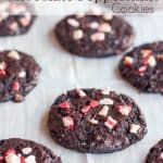 Gluten Free Flourless Chocolate Peppermint Cookies