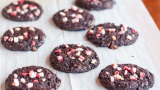 Flourless Chocolate Peppermint Cookies
