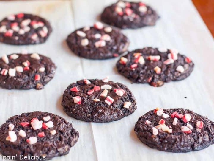 Flourless Chocolate Peppermint Cookies