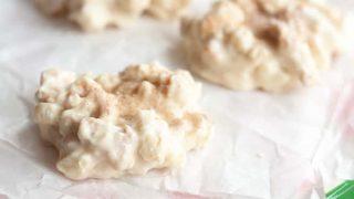 Gluten Free No Bake White Chocolate Cinnamon Cookies