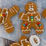 Gluten Free Vegan Ninjabread Men (dairy free, egg free, gingerbread cut out recipe)