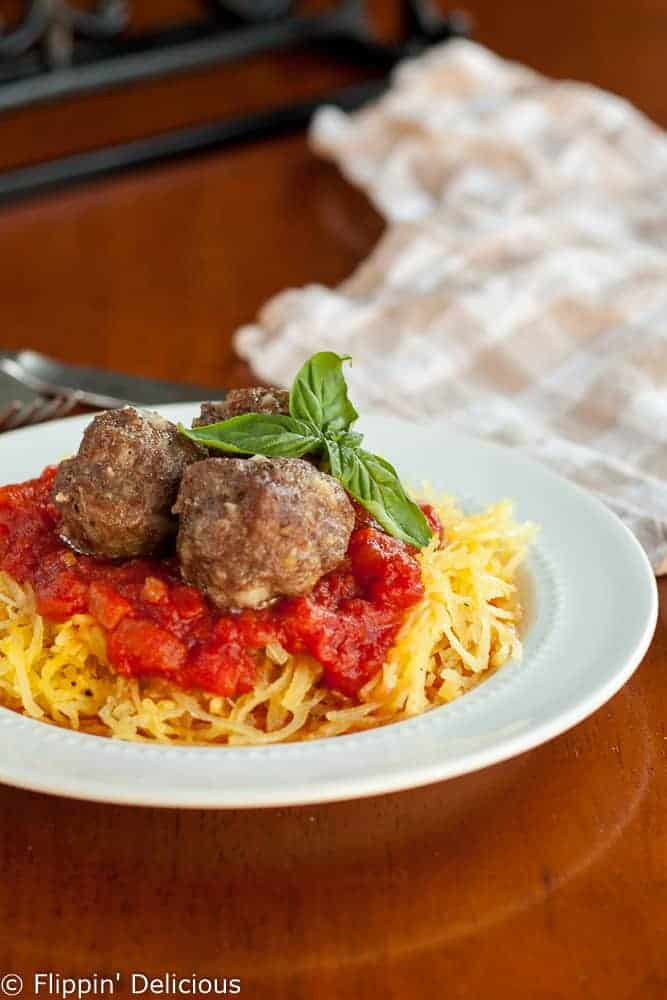 Gluten-free baked meatballs are part of a most delectable meal. Who doesn't love spaghetti and meatballs?