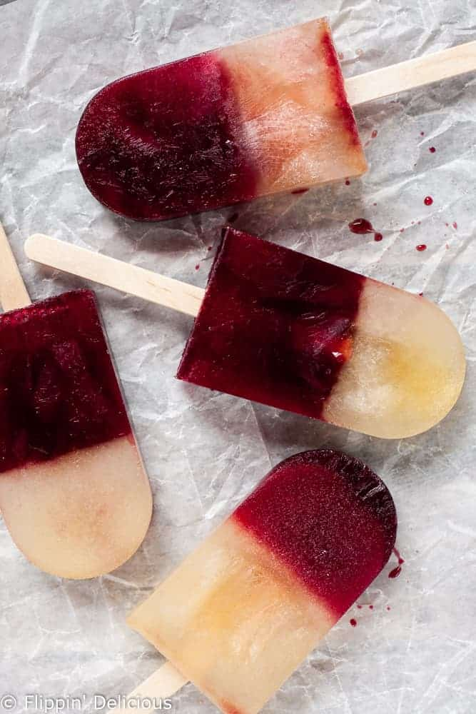 Easy Banana Pomegranate Popsicles. Full of potassium and antioxidants, no added sugar, and just 2 ingredients!