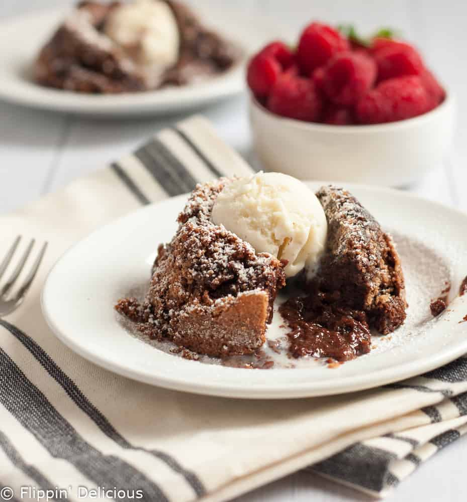 Flourless Molten Chocolate Lava Cake -