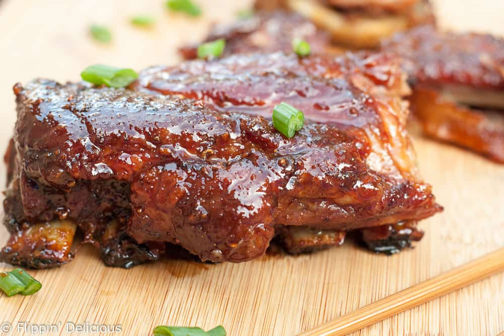 These Gluten Free Sticky Asian Ribs are easy to make with just a few minutes of prep. Just as good (if not better) than any restaurant ribs!