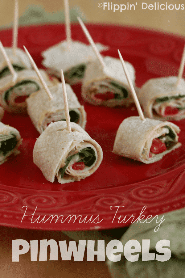 Hummus Turkey Pinwheels make a quick and easy lunch that is fun for everyone. They pack well, or you can enjoy them at home.