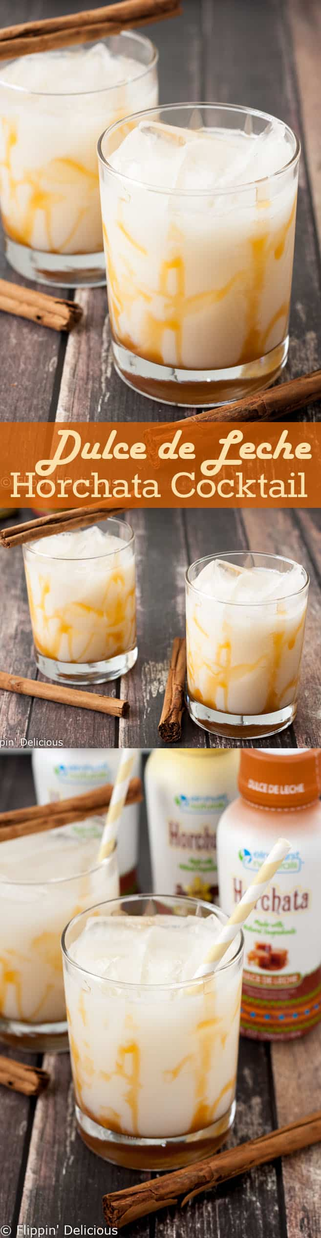 This Easy Dulce De Leche Horchata Cocktail is sweet and nutty with great caramel flavor and just a hint of cinnamon. Celebrate Happy Hour at home!