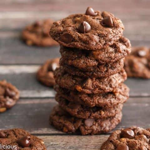 Flourless Chocolate Peanut Butter Cookies {gluten free}