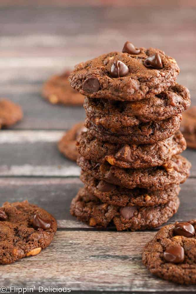 These Chewy Flourless Chocolate Peanut Cookies are soft and nutty. You won't be able to resist going back for more.