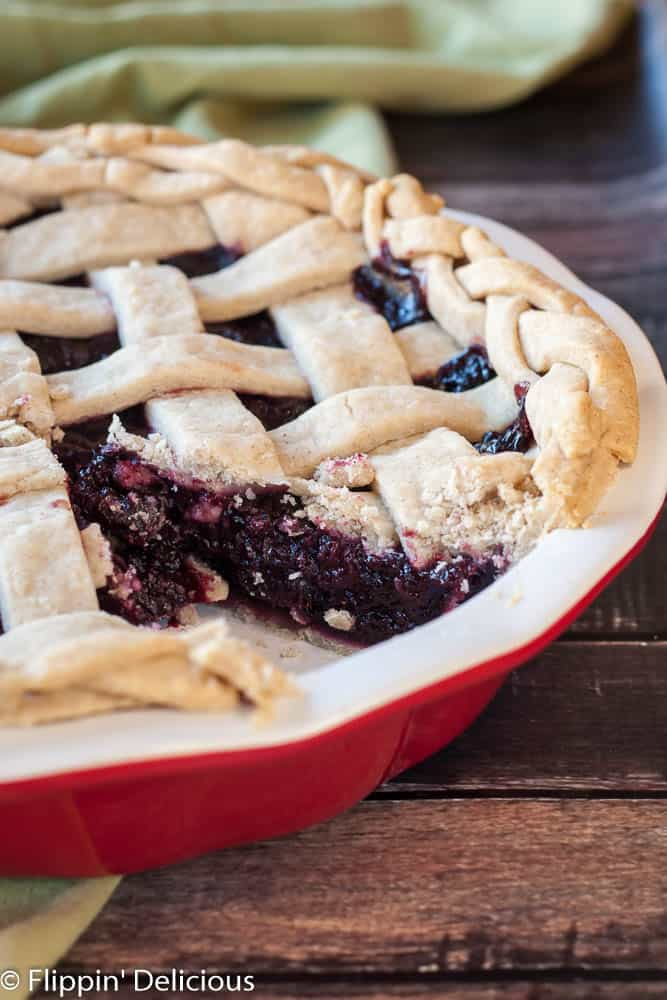 gluten free dark cherry lemon pie-4