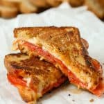 Gluten Free Pepperoni Pizza Grilled Cheese Sandwich