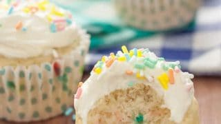 Gluten Free Funfetti Cupcakes with Cake Batter Frosting