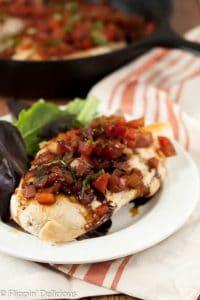 Bruschetta Chicken Skillet {gluten free, dairy free}