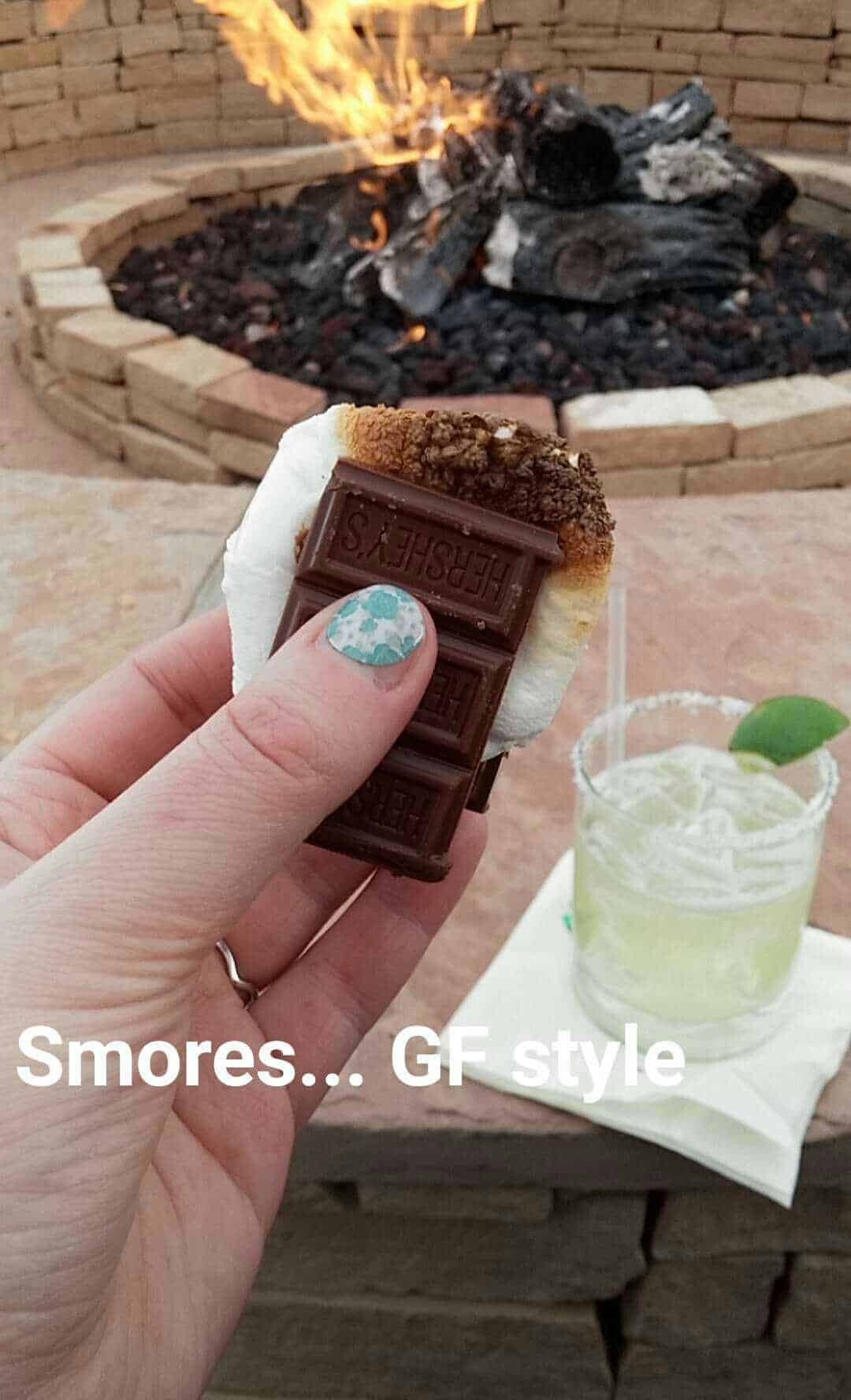 Making smores and sipping margaritas at the Tamaya