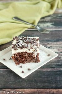 Gluten Free Cannoli Poke Cake