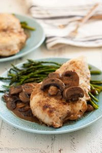 Gluten free chicken marsala with mushrooms tastes just like your favorite classic restaurant dish. Easy enough for a weeknight meal!