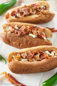 Gluten Free Jalapeno Popper Hot Dogs