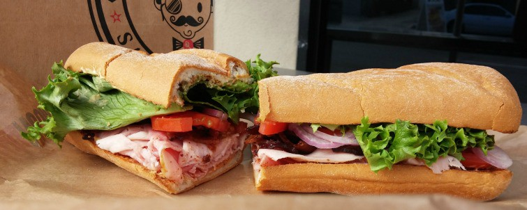 mission beach san diego gluten free rubicon deli hogs breath on Udi's gluten free french bread GIANT SANDWICH!