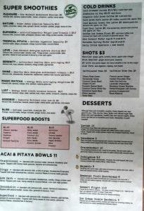 san diego gluten free trilogy sanctuary la jolla smoothie and dessert menu