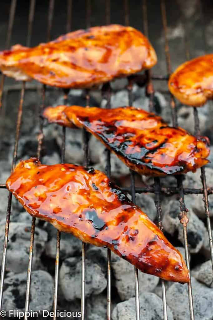 Grilled Gluten Free Teriyaki chicken is the perfect dinner for a summer night at the grill. Tangy and moist, you'll be making this chicken again and again!