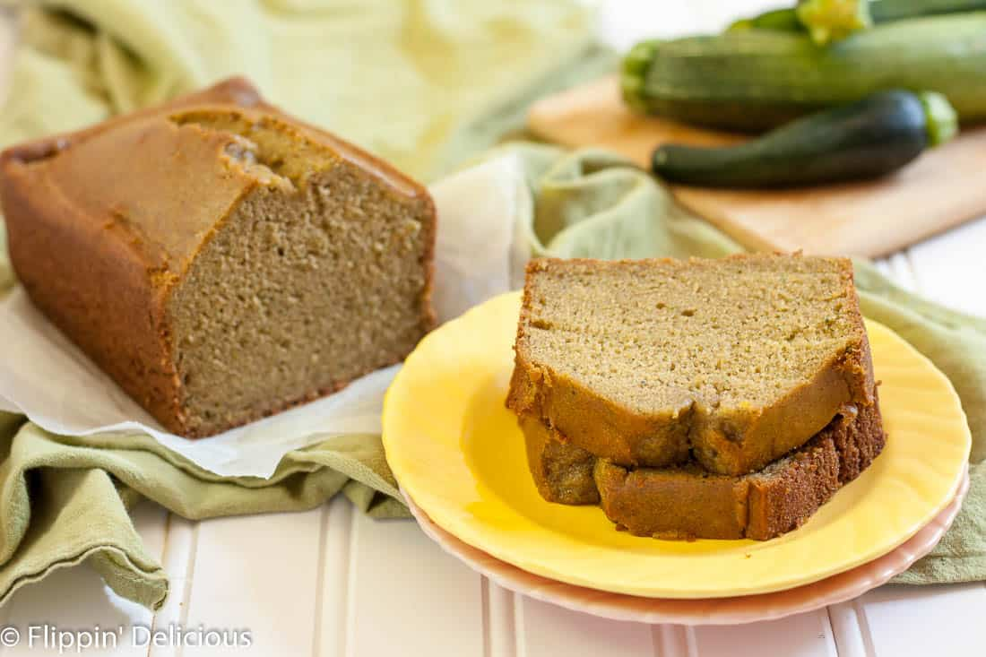 This Gluten Free Blender Zucchini Bread couldn't be easier to make! No peeling or grating, and the zucchini bread is moist with the perfect crumb. Naturally dairy free too!