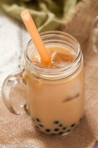 Dairy Free Pumpkin Chai Bubble Tea