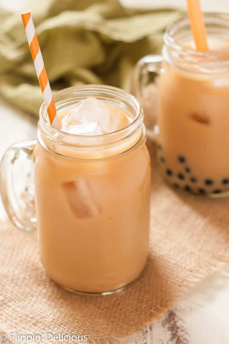 You can still enjoy this pumpkin spice chai latte bubble free. It really just depends on my mood, and how thirsty I am. Sometimes I can't wait 10 minutes for my bubbles to boil!