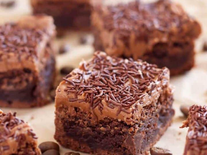 Gluten Free Coffee Brownies with Espresso Frosting {dairy free}