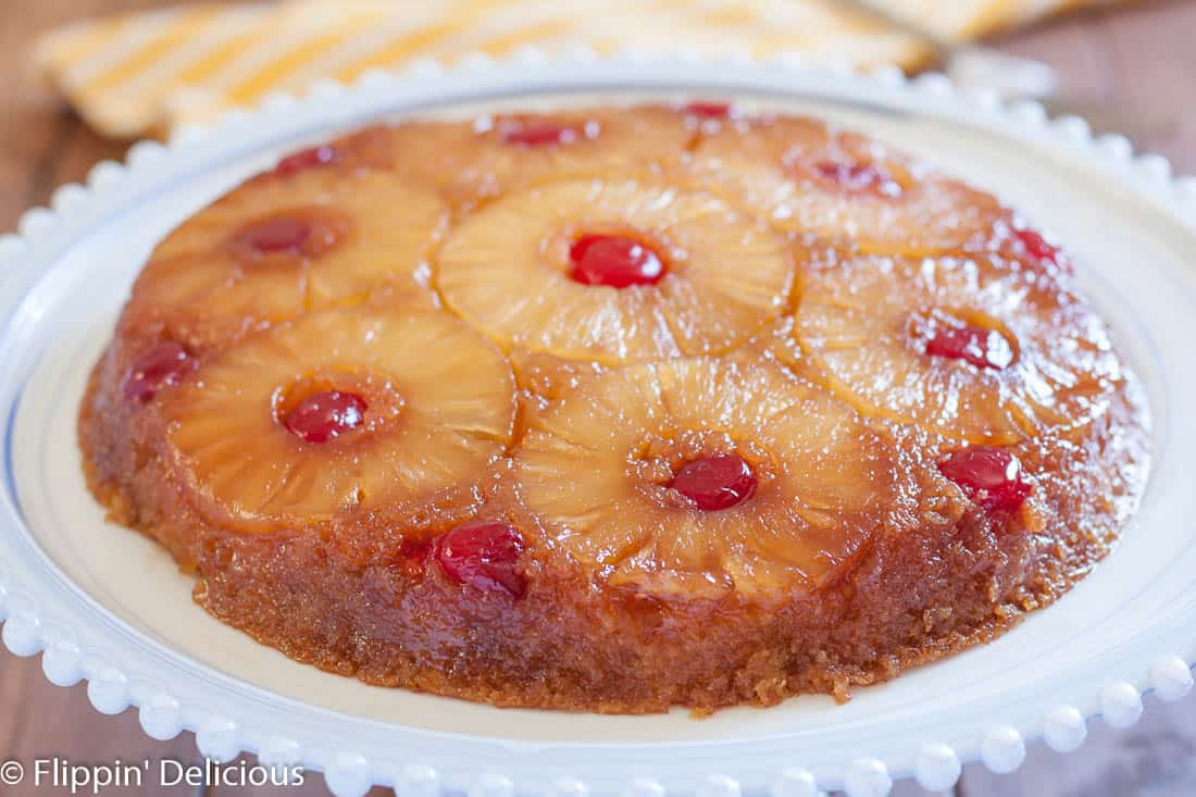 Gluten Free Pineapple Upside Down Cake is a classic dessert with gooey ...