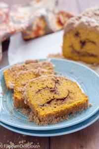 Gluten Free Pumpkin Cinnamon Swirl Quick Bread
