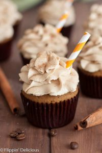 With these Gluten Free Pumpkin Spice Latte Cupcakes with Coffee Frosting you get to bite into your favorite fall espresso drink! Easily made dairy free too.