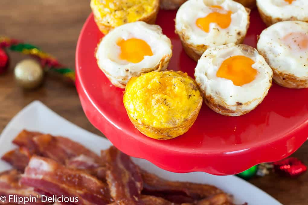 Gluten Free Hash Brown Breakfast Casserole Cups. This Gluten Free Holiday Brunch has everything you need, including gluten free eggnog muffins with crumb topping, breakfast casserole cups, grapefruit mimosas, and a hot chocolate bar.